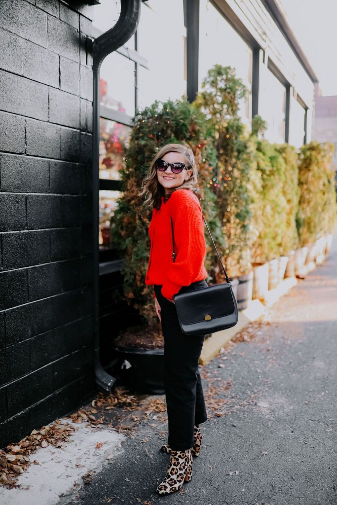 Holiday Combo: Red and Leopard Print Booties