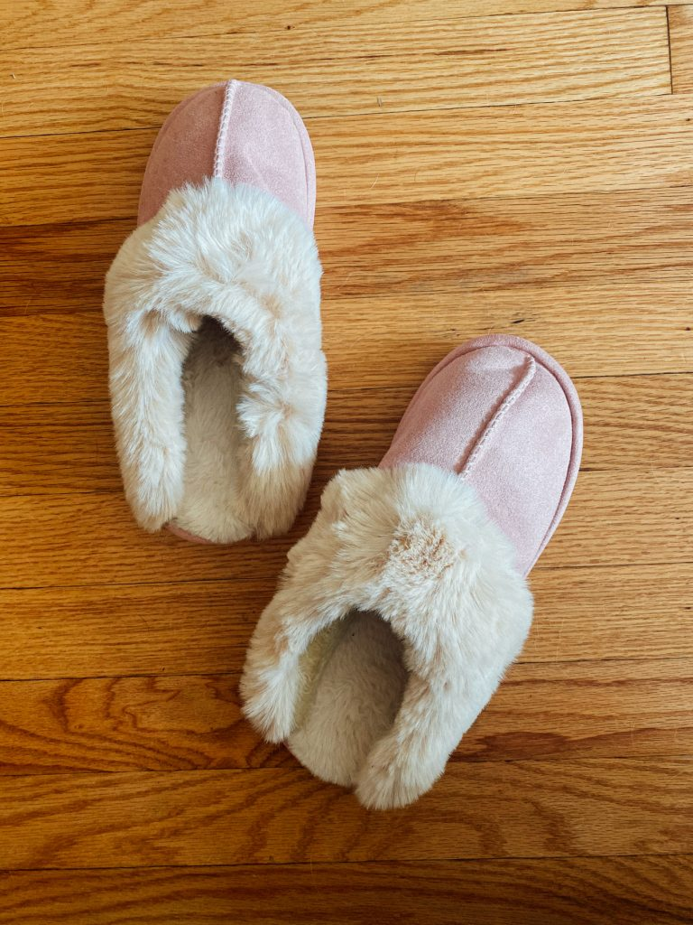 A Pair Of Furry Slippers