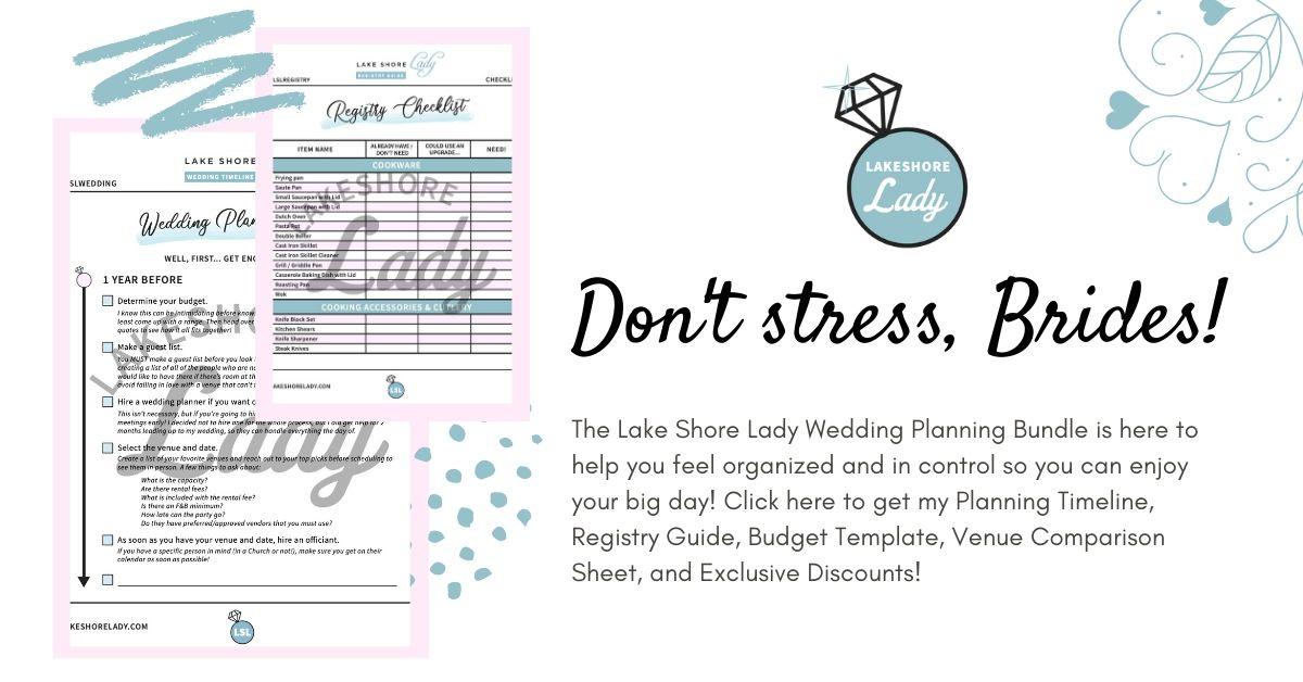 Lsl Wedding Planning Bundle Printables Checklists Discounts More