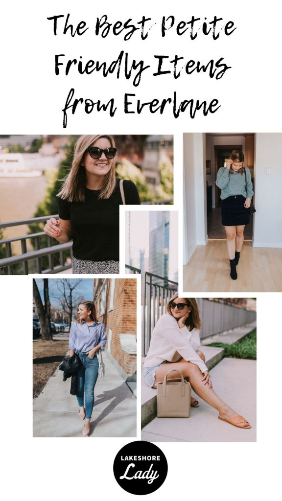 collage of Petite Friendly Items from Everlane