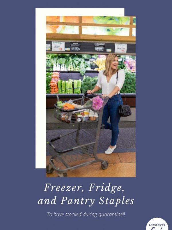 freezer, fridge, and pantry staples