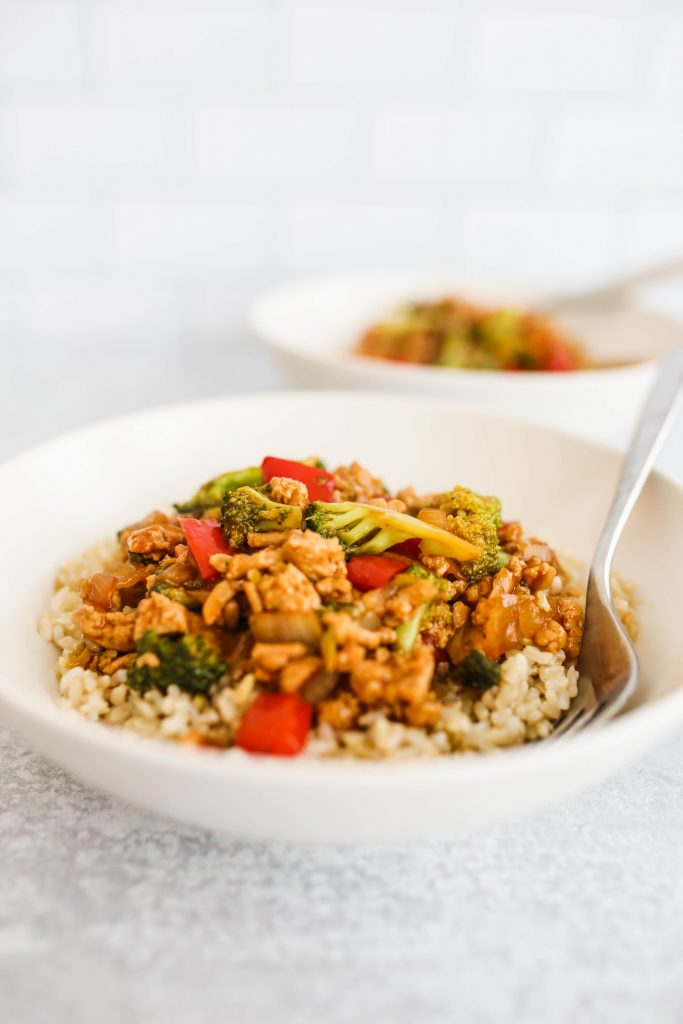 Asian Rice Bowls with Ground Turkey