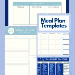 Free Meal Plan Template (+ a new Grocery List Template and Meal Builder!)
