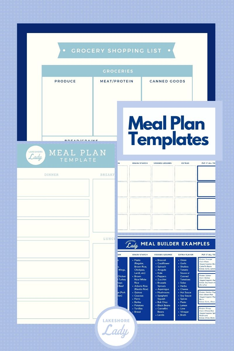 LSL meal plan template
