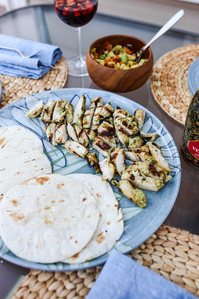 Grilled Cilantro Lime Chicken Tacos