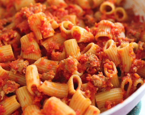 Spicy Turkey Sausage Ragu
