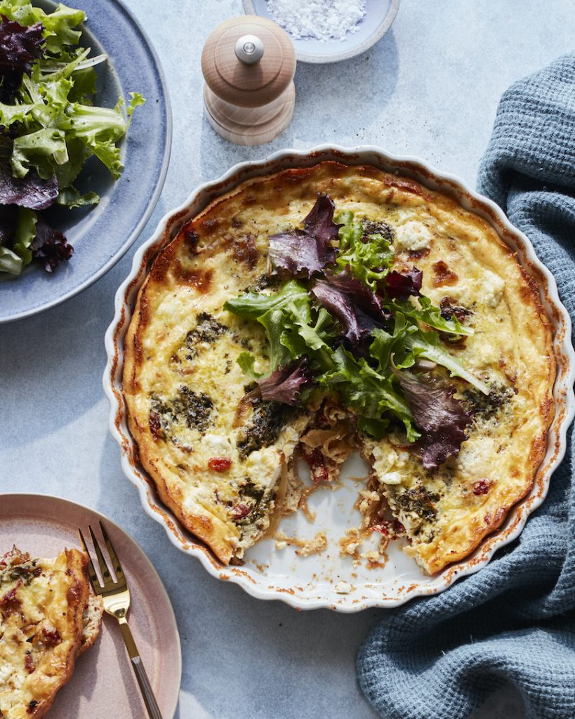 Sun Dried Tomato Goat Cheese Quiche