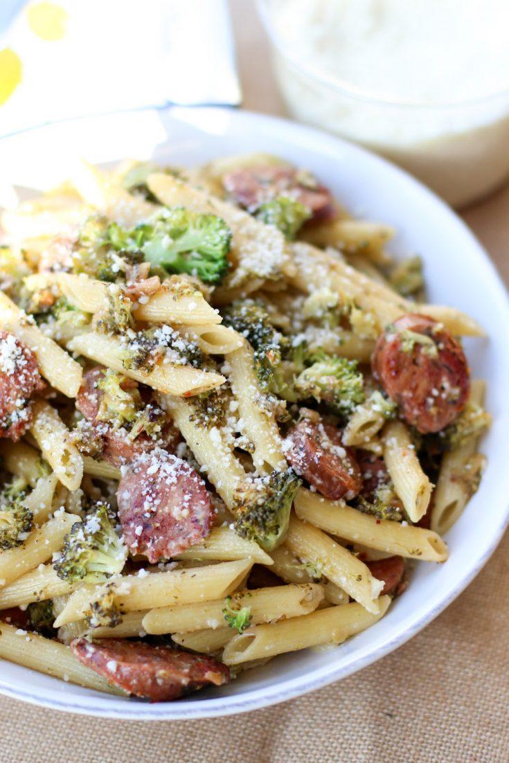Chicken Sausage and Broccoli Pasta