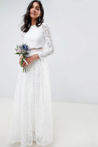 Asos Crop Top Wedding Mini (and gown!)