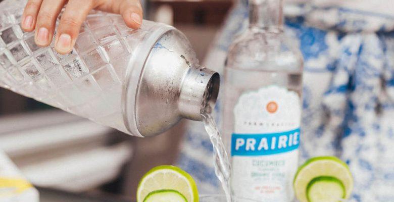 Prairie Organic Cucumber Flavored Vodka Gimlet Recipe For Game Night