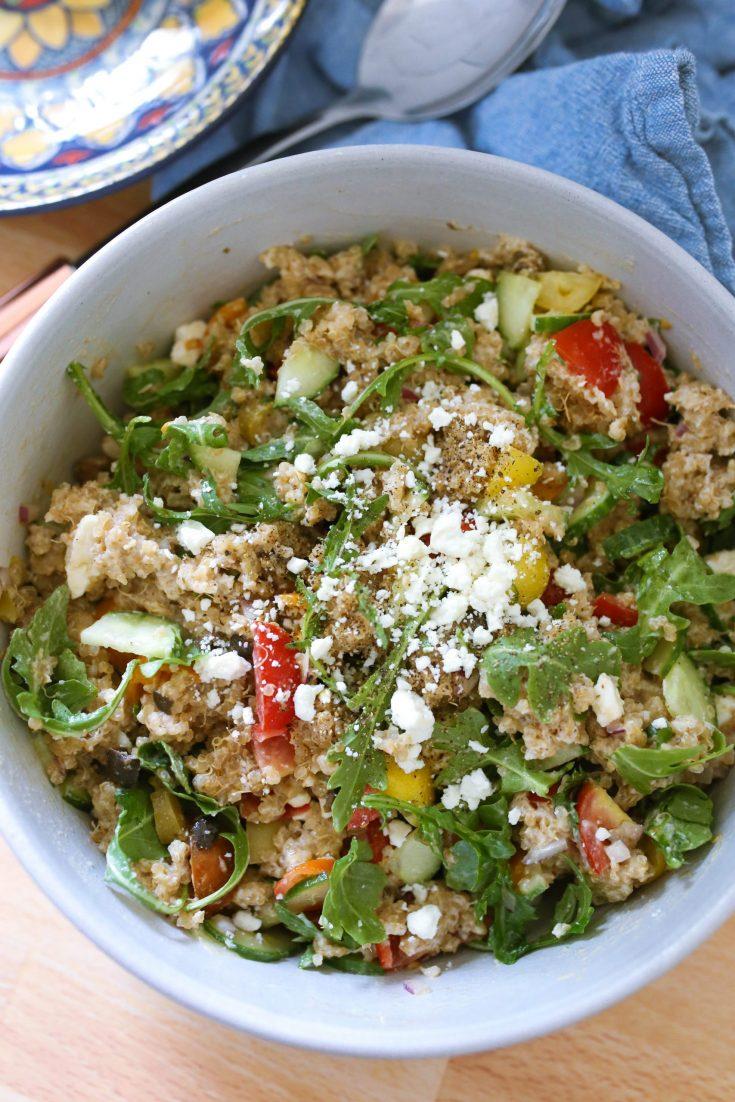 Summer Quinoa Salad with Tahini Dressing