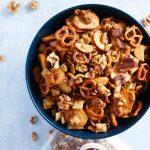HoneyMustardSnack Mix With Walnuts