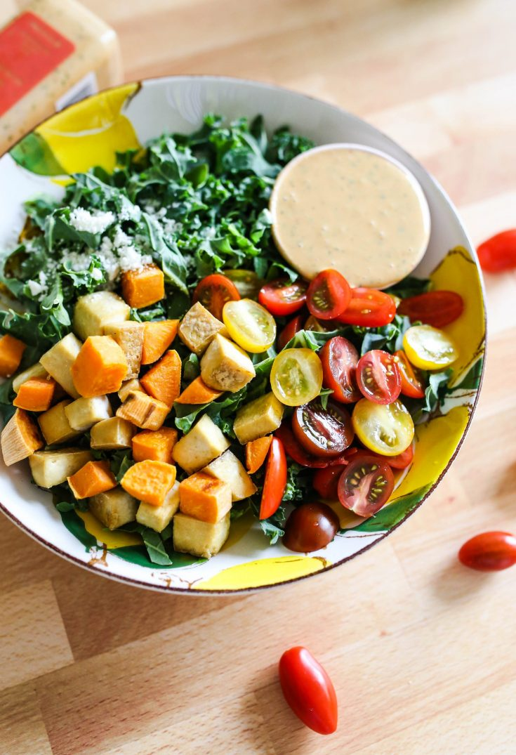 Spicy Cashew Dressing Salad