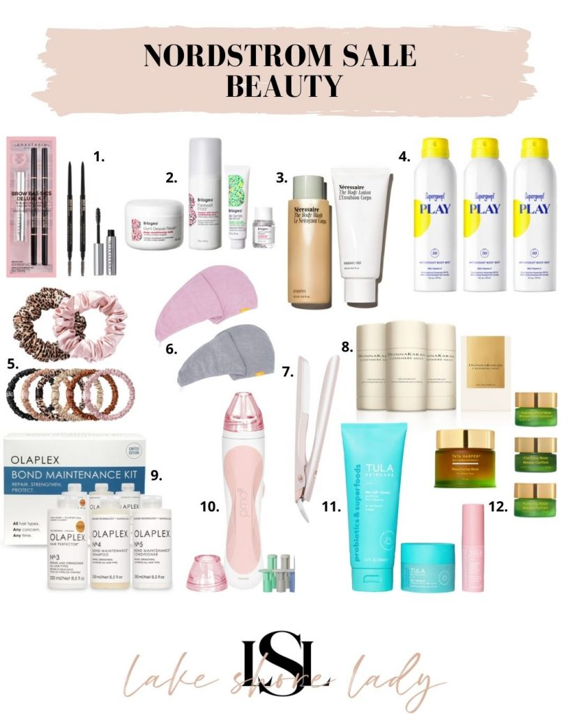 collage of Nordstrom Anniversary Sale Beauty items