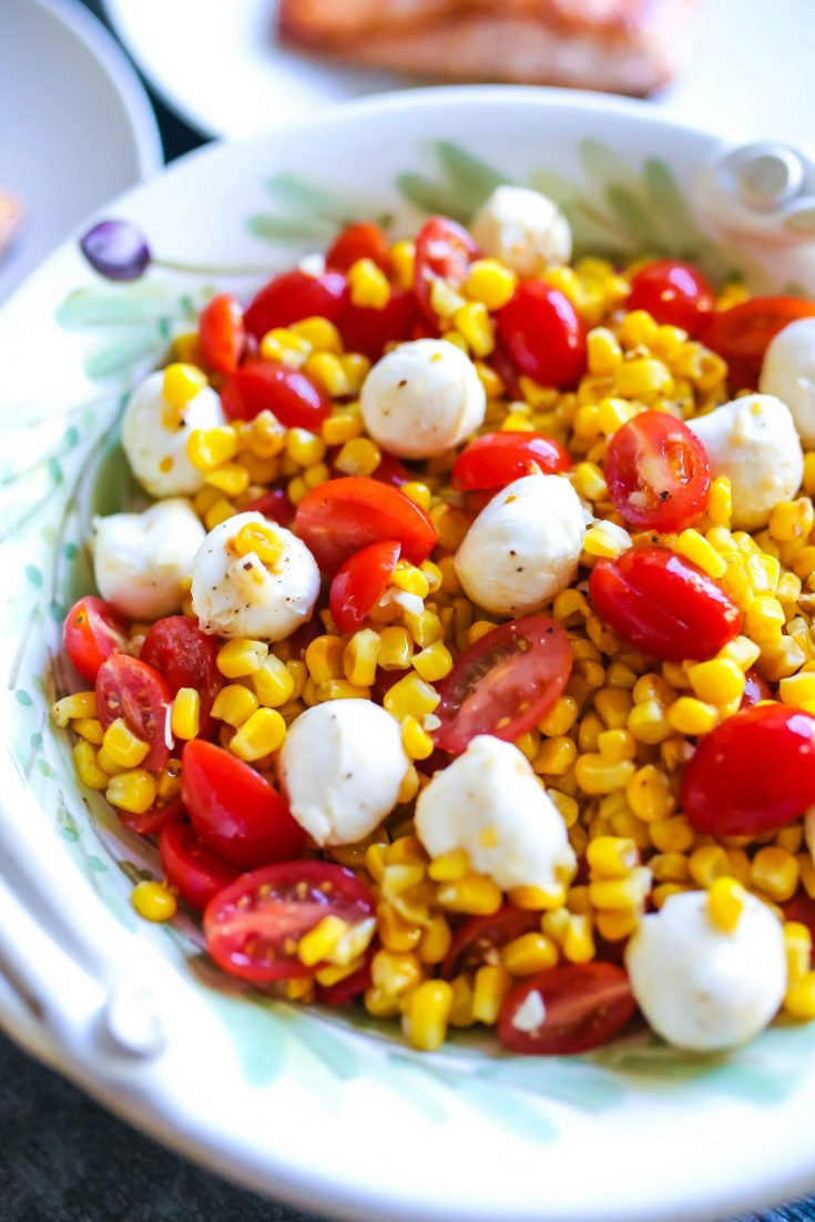 The Easiest Tomato, Corn, and Mozzarella Salad