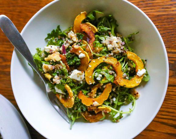 Roasted Delicata Squash Fall Salad