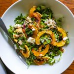 Roasted Delicata Squash Fall Salad