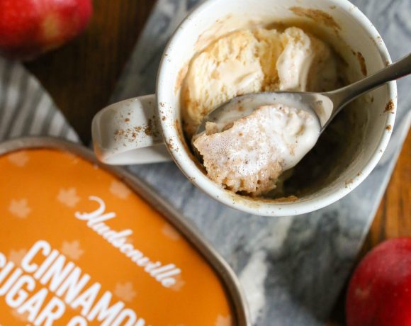 Apple Mug Cake with Hudsonville Ice Cream