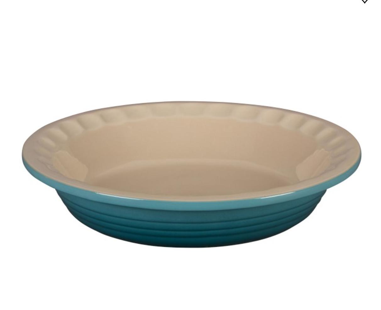 "Le Creuset Heritage Stoneware Pie Dish, 9"", Caribbean"