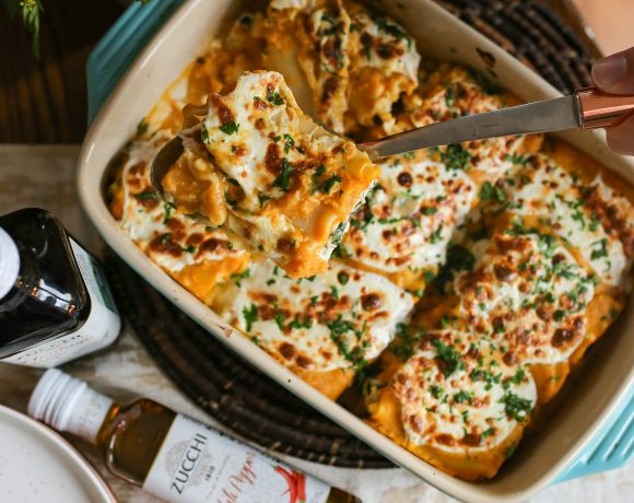 Pumpkin Lasagna Rollups with Zucchi EVOO