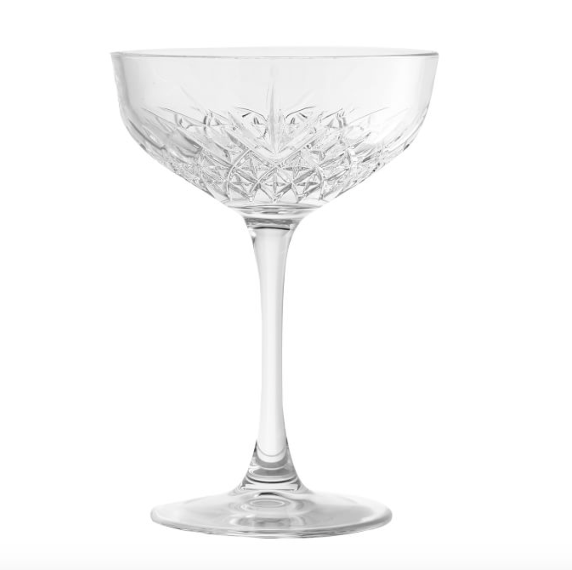 Trellis Coupe Glass, Set of 4 - Clear