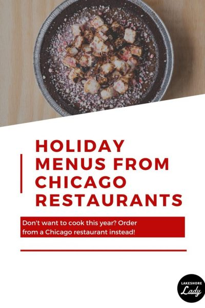 Chicago Restaurants Offering Special Holiday Menus