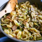Brussels Sprouts Pasta with Chicken Sausage