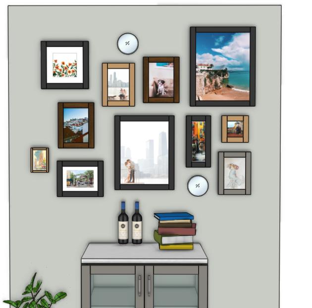 Gallery Wall 3D rendering