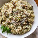 Mushroom Risotto Recipe with Truffle Zest