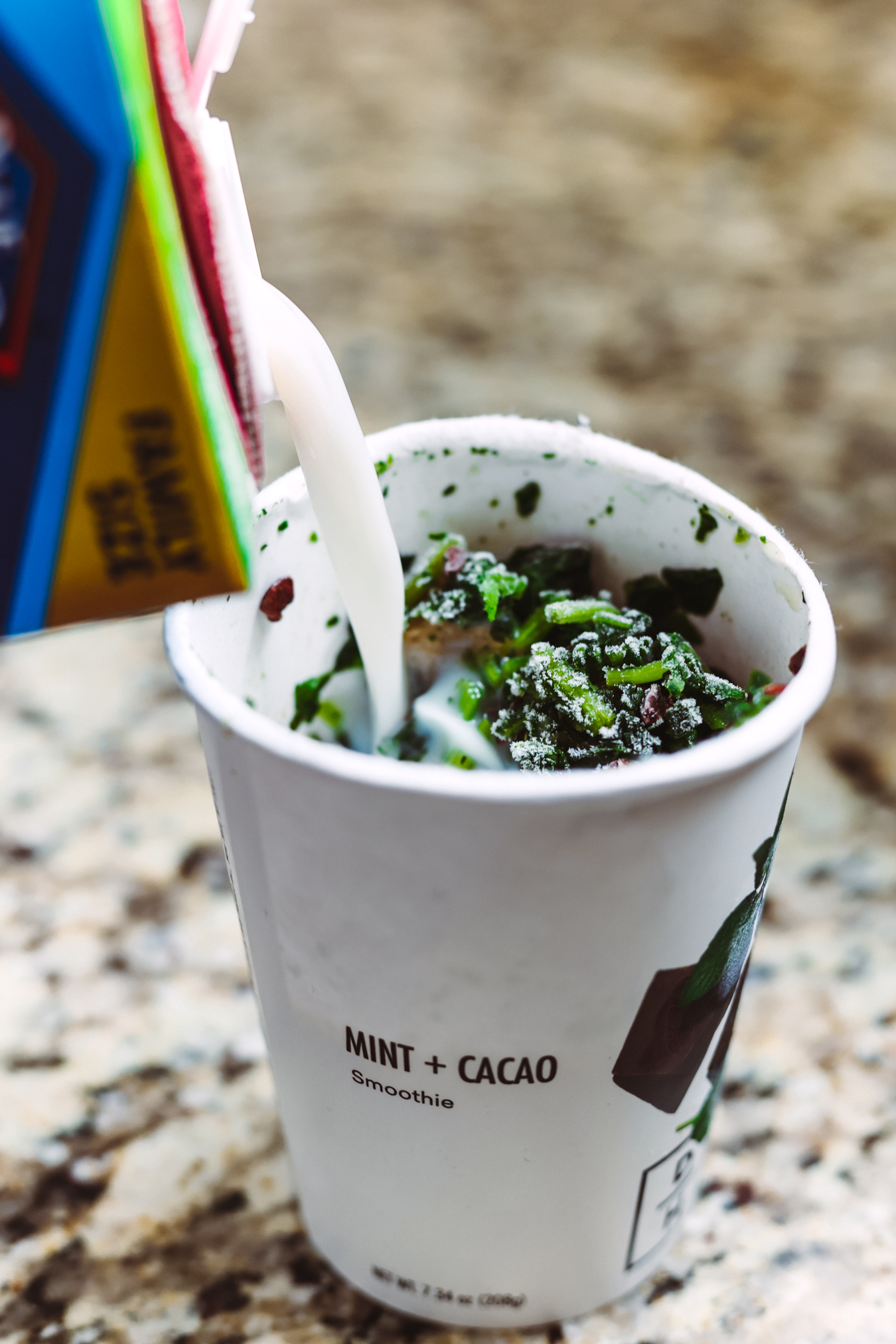 Daily Harvest Review | mint cacao smoothie