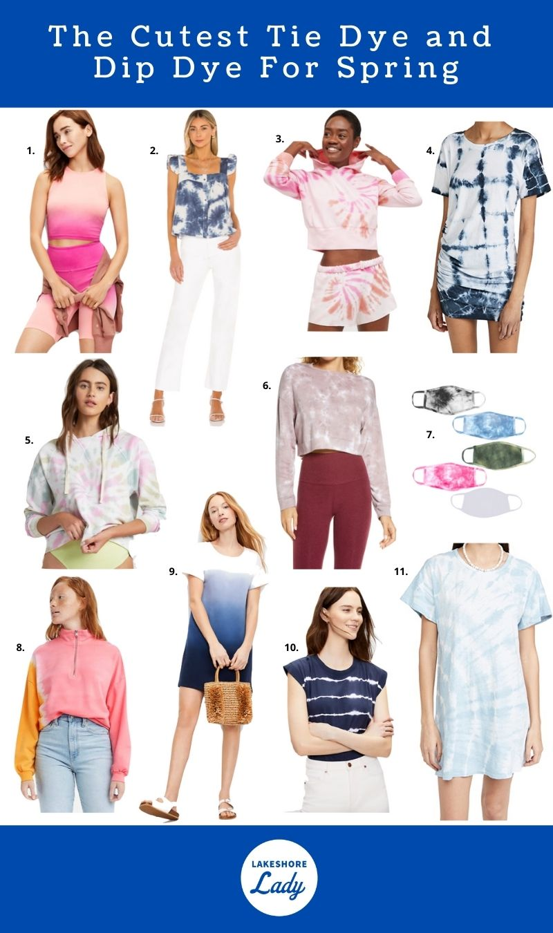 the cutest tie dye and dip dye for spring
