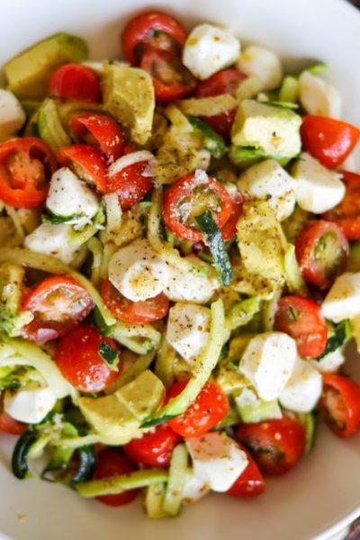 zucchini noodle salad-4