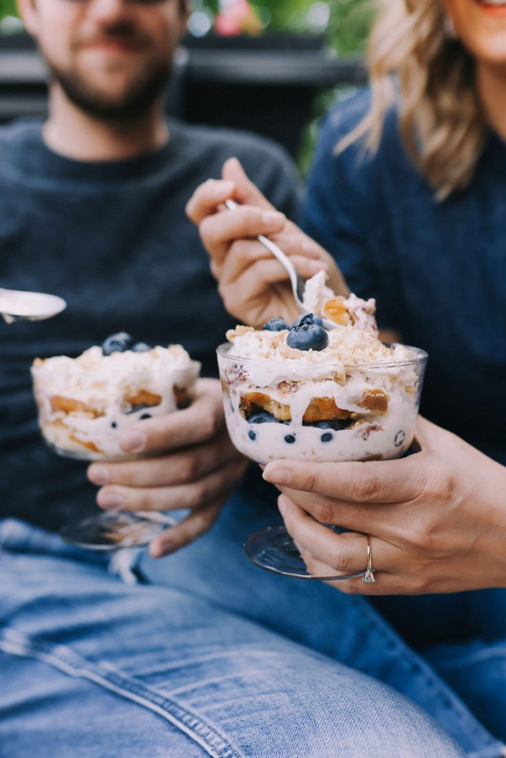 Blueberry Trifle with Hudsonville Ice Cream