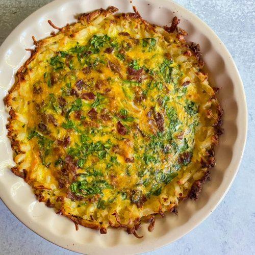 hash brown crust quiche