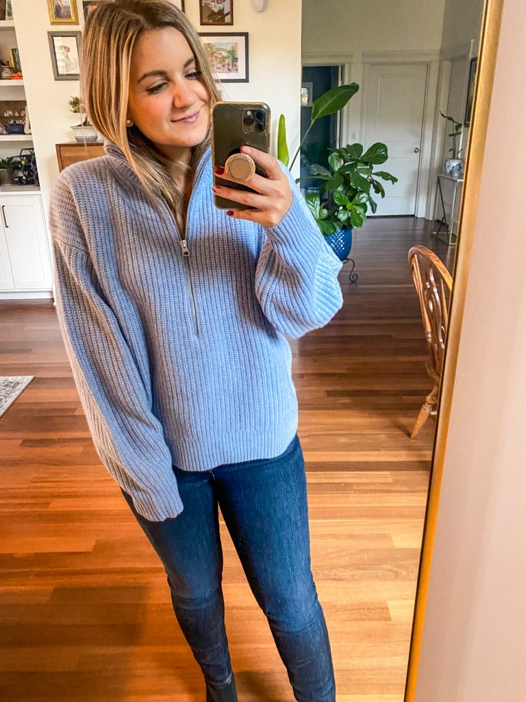 woman wearing sweater from Petite Friendly Items from Everlane