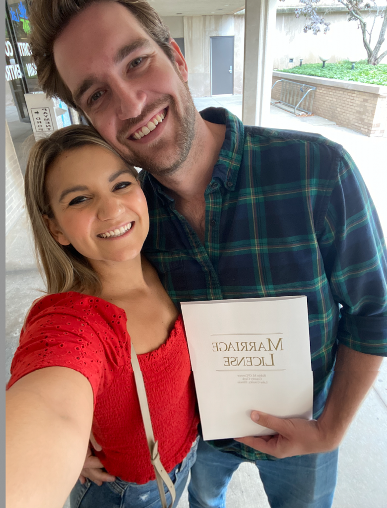a couple getting their marriage license and sharing Sunday Spotlights 53