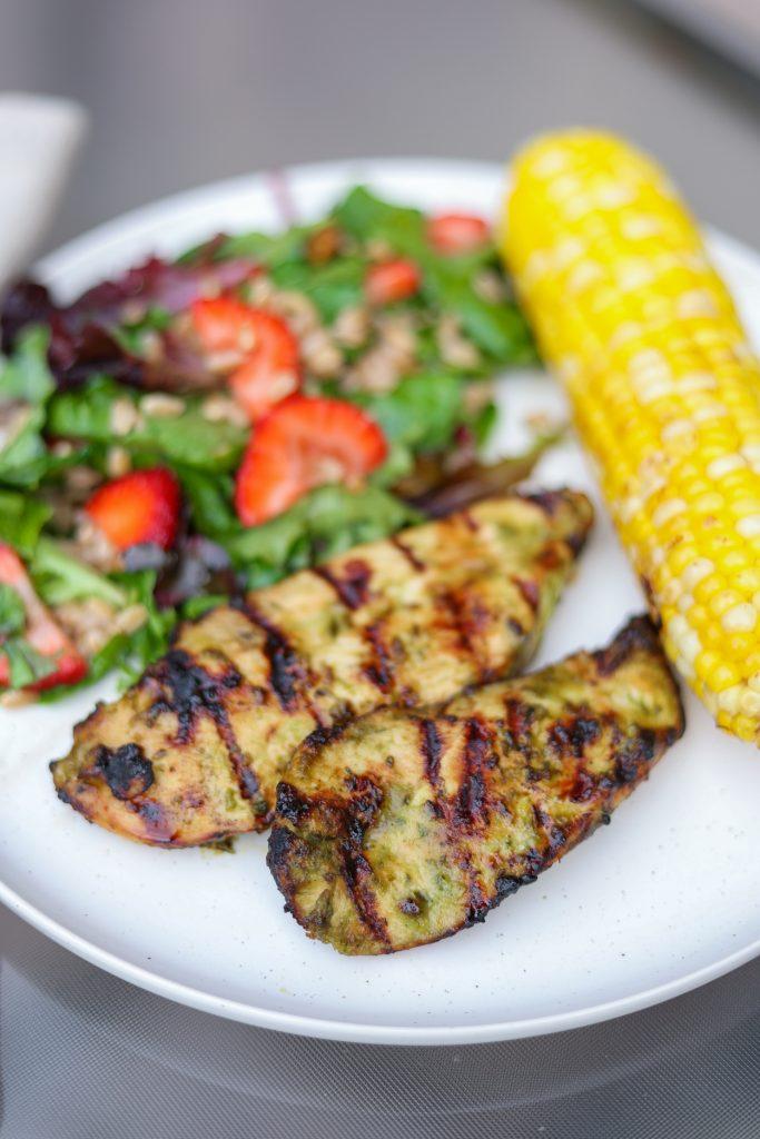 Basil Chicken Marinade Recipe on a plate