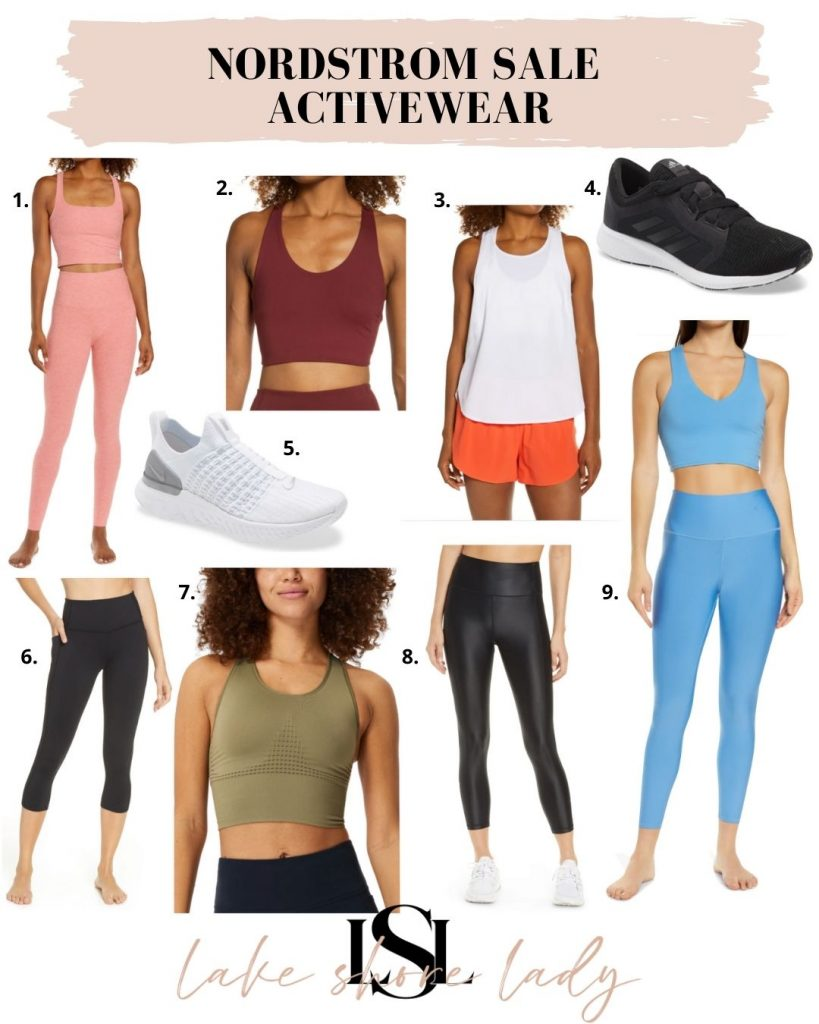 collage of Nordstrom Sale Workout Clothes