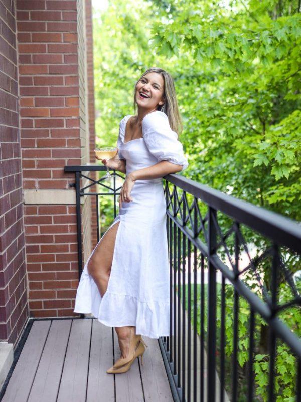 reformation white dress-7