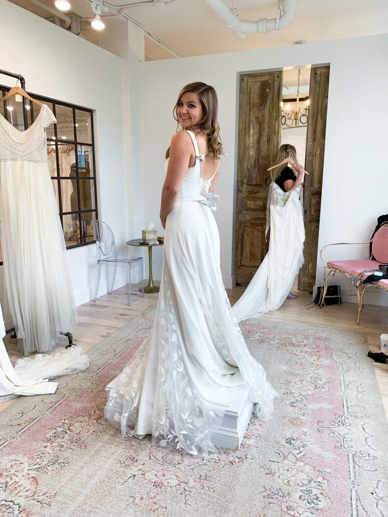 side details of Alexandrea Grecco Sienna Dress