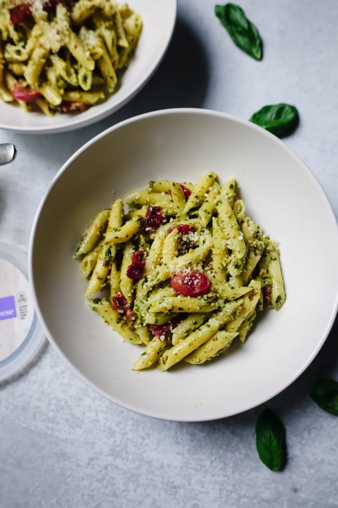 a bowl of cooked Recipe for Pistachio Pesto
