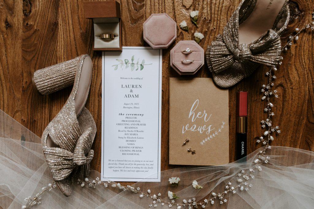wedding details in a wedding