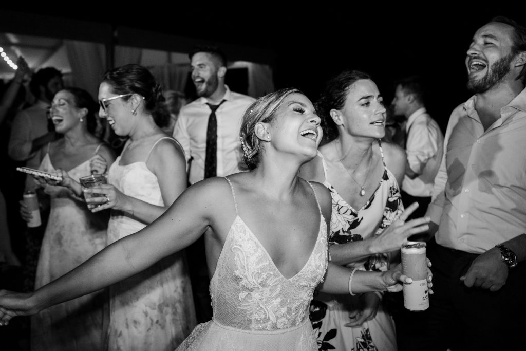 black and white photo of people partying for Sunday Spotlights 61